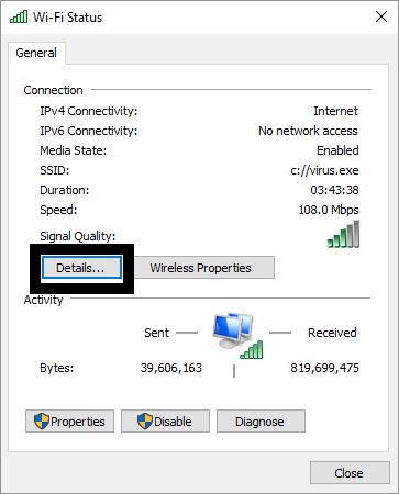Find Routers IP Address