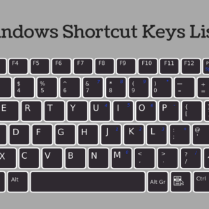 Windows Shortcut Keys List