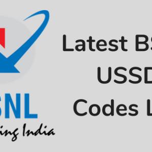 BSNL USSD Code List