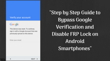 Bypass Google Verification