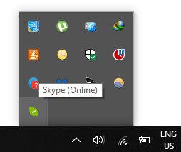Remove Skype Icon From Windows 10 Taskbar
