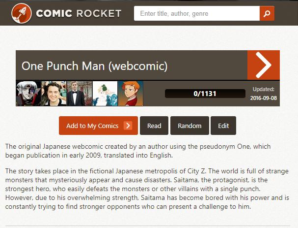 One Punch Man Webcomic