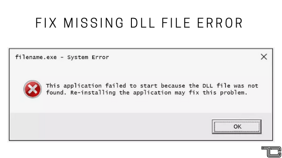Fix DLL Missing Error